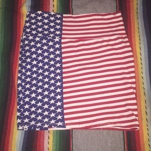 USA America Flag Skirt NWT